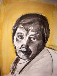Frauenportrait »Svetlana« aus der Bild- und Objekt-Serie »Encuentro« von Eva Maria Rapp