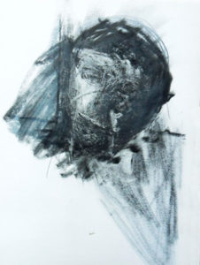 Skizze 1 zu Portrait »Svetlana«, Ölkreide