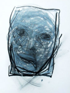 Skizze 2 zu Portrait »Svetlana«, Ölkreide
