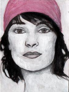 "Frauenportrait ""Maria"", Mischtechnik, von Eva Maria Rapp"