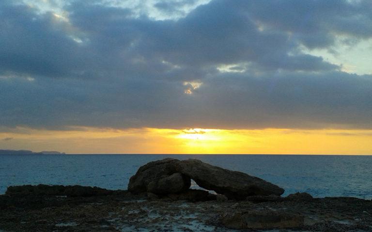 Sonnenuntergang am Meer, bei Colonia San Jordi, Mallorca