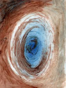 """Bild """"Blaues Auge"""", Mischtechnik"""