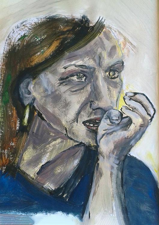 "Frauenportrait ""Italiana"", Acryl"