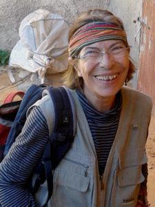 Eva Maria Rapp beim Malkurs-Ausflug zu den Fischerhäusern S´Almonia, Mallorca