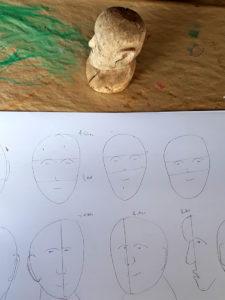 Kopfstudien im Malkurs von Eva Maria Rapp
