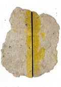 """ARTEPostal Karte 0221, """"Karton geschlitzt mit Gelb"""""""