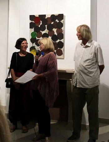 Eva Maria Rapp und Dieter Breitschwerdt bei der Ausstellungseröffnung